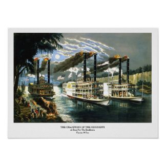 Currier & Ives - Poster - Champions Mississippi