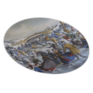 Currier & Ives Skating Pond plate