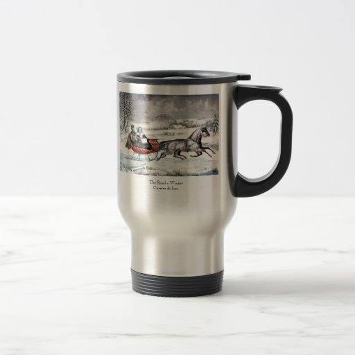 Currier & Ives - Travel Mug - The Road, Winter