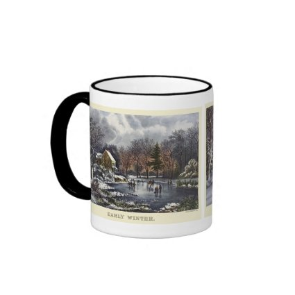 Currier & Ives; Two Designs mug