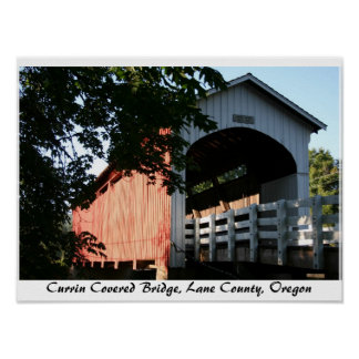 Currin Covered Bridge, Oregon Posters