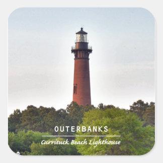 Currituck Beach Light. Square Sticker