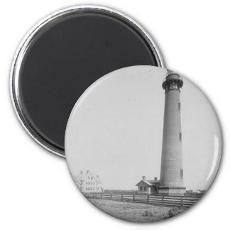 Currituck Beach Lighthouse 2 Inch Round Magnet