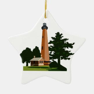 Currituck Beach Lighthouse Ceramic Ornament