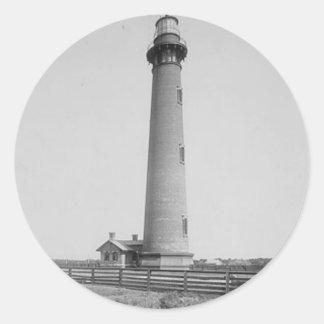 Currituck Beach Lighthouse Classic Round Sticker