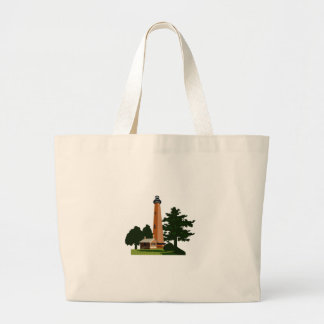 Currituck Beach Lighthouse Large Tote Bag