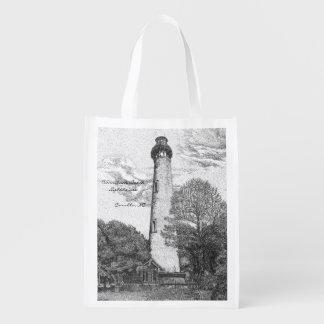 Currituck Beach Lighthouse Reusable Bag