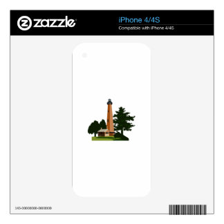 Currituck Beach Lighthouse Skins For iPhone 4S