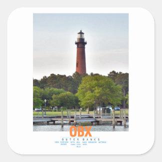 Currituck Beach Lighthouse. Square Sticker