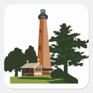 Currituck Beach Lighthouse Square Sticker