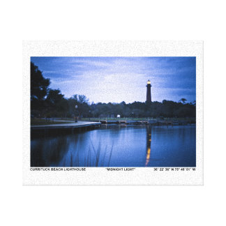 Currituck Lighthouse Stretched Canvas Print
