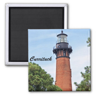 Currituck Lighthouse 2 Inch Square Magnet
