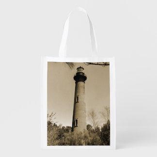 Currituck Lighthouse Reusable Grocery Bag