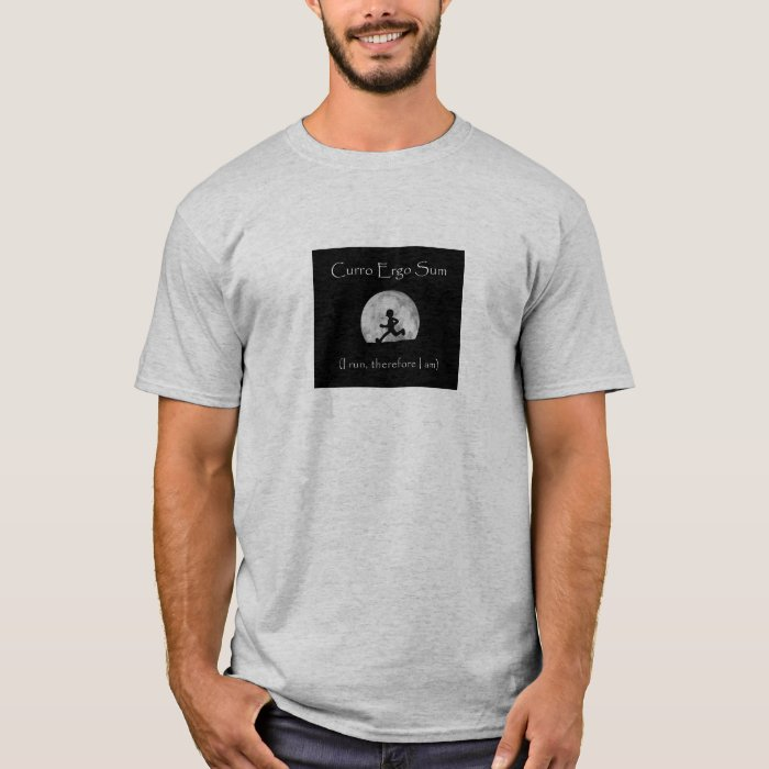 Curro Ergo Sum (I run therefore I am) T-shirt
