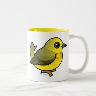 Curruca amarilla taza