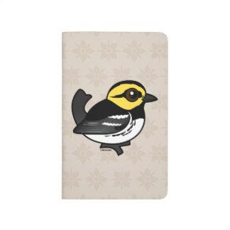 Curruca De oro-cheeked de Birdorable Cuaderno Grapado