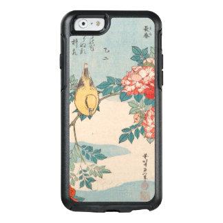 Curruca y rosas de Hokusai GalleryHD Funda Otterbox Para iPhone 6/6s