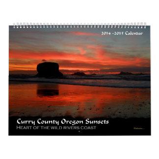 Curry County Oregon Sunsets Calendar