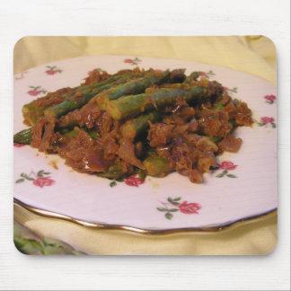Curry del espárrago alfombrillas de ratones