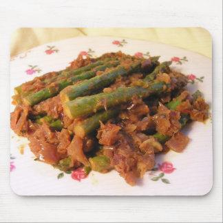 Curry del espárrago tapete de ratón
