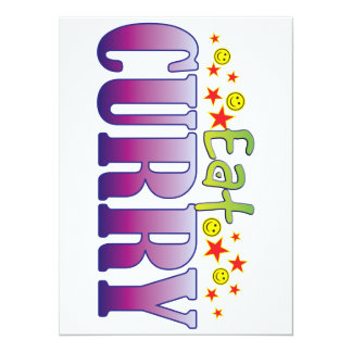 Curry Eat 5.5x7.5 Paper Invitation Card