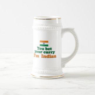 Curry indio 2 jarra de cerveza