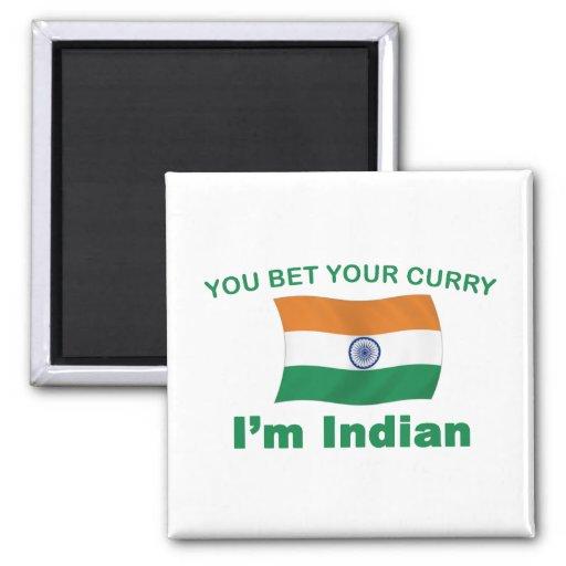 Curry indio iman para frigorífico