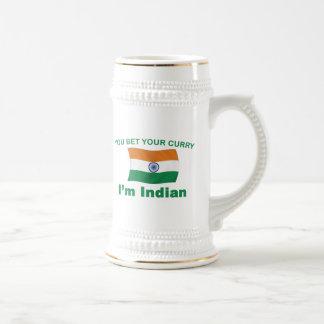 Curry indio jarra de cerveza
