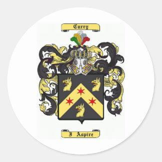 Curry (irish) classic round sticker