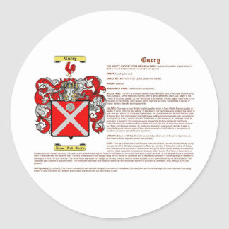 Curry (meaning(scotland) classic round sticker
