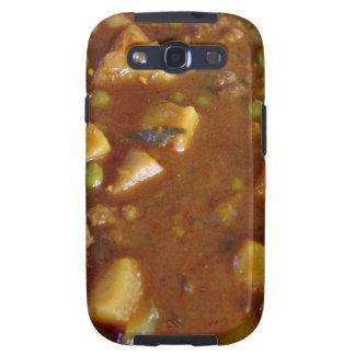 Curry mezclado picante de las verduras galaxy SIII carcasa