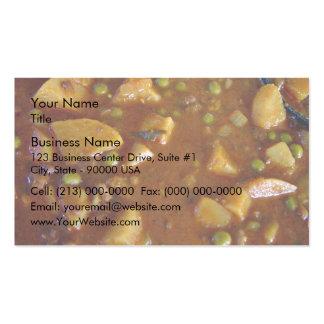 Curry mezclado picante de las verduras tarjetas de visita