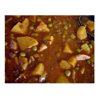 Curry mezclado picante de las verduras tarjetas postales