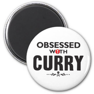 Curry Obsessed 2 Inch Round Magnet