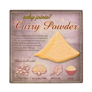 Curry Powder Wooden Coaster