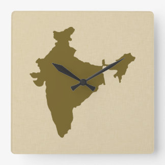 Curry Spice Moods India Square Wall Clock