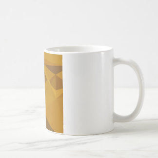 Curry Yellow Abstract Low Polygon Background Coffee Mug