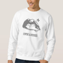 Curse & Kisses Lips sweater Pullover Sweatshirt