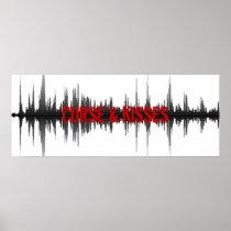 Curse & Kisses Sound wave poster