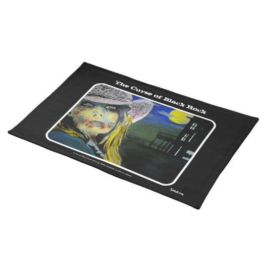 'Curse of Black Rock' Western Zombie American MoJo Cloth Placemat