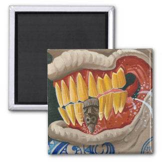"""""""Curse of the Tiki Tooth"""" 2 Inch Square Magnet"""