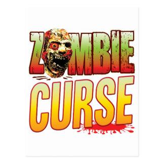 Curse Zombie Head Postcard