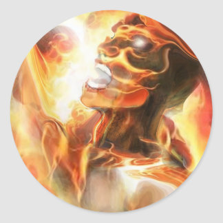 CURSED OF GOD ! CLASSIC ROUND STICKER