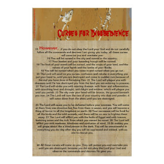 Curses for Disobedience Print