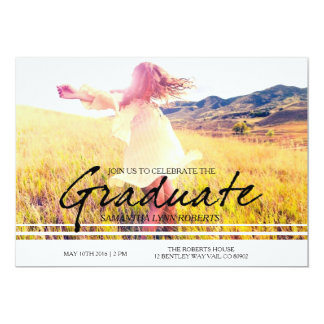 Cursive Chic and Modern Graduation Party Card