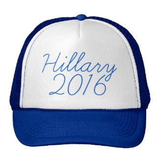 Cursive de Hillary 2016 Gorras De Camionero