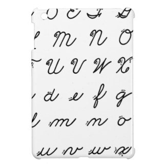 cursive handwriting chart case for the iPad mini