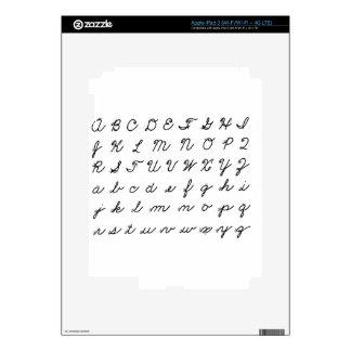cursive handwriting chart iPad 3 skin