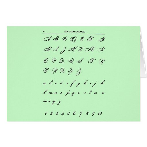 Cursive Letters Greeting Card