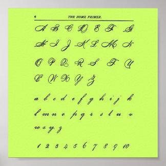 Cursive Letters Poster